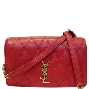 YVES SAINT LAURENT ANGIE CHAIN DIAMOND QUILTED